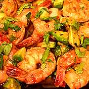 Roasted Chipotle Prawns with Avocado