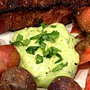 Seared Steak with Herbed Avocados